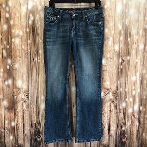 Arizona Jean Co. Mid Rise Boot Cut Blue Jeans